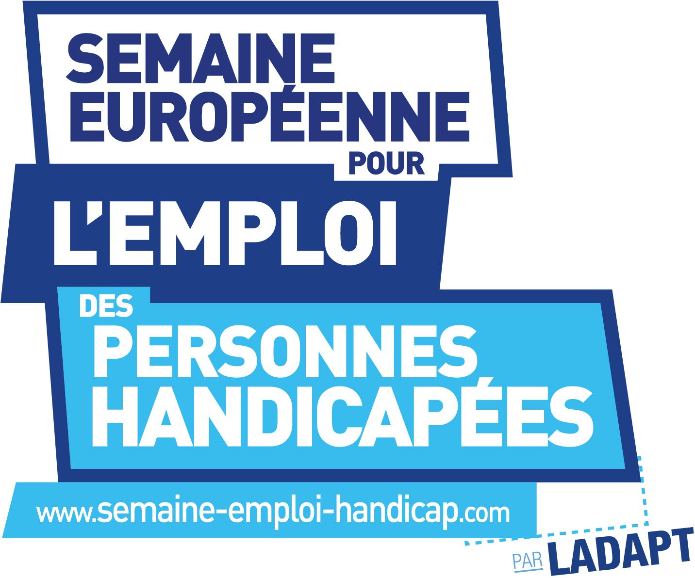 Semaine européenne pour l'emploi des personnes handicapées (logo)